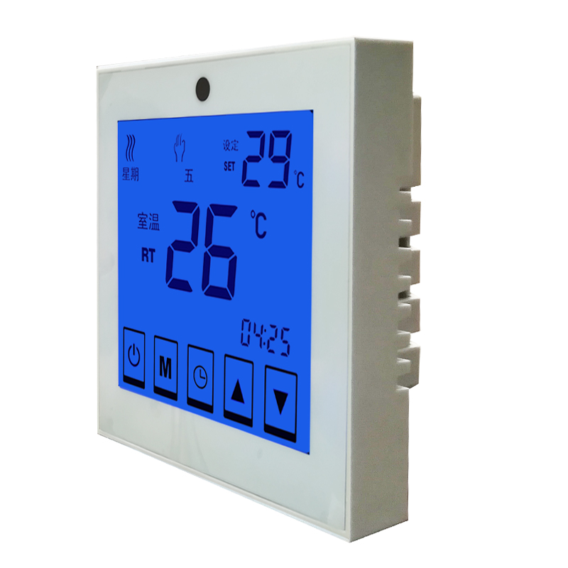 Electric heating touch screen temperature controller, water floor heating liquid crystal temperature controller, wall hanging furnace passive temperature control switch