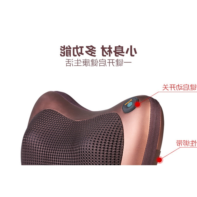 Genuine waist, neck, back spine vehicle massage device, full body cushion, multi function electric pillow cushion