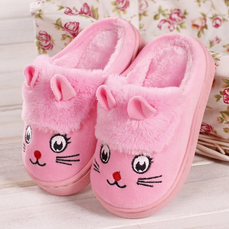 棉拖鞋儿童女童可爱小孩秋冬季男童冬天宝宝中大童保暖包跟居家鞋