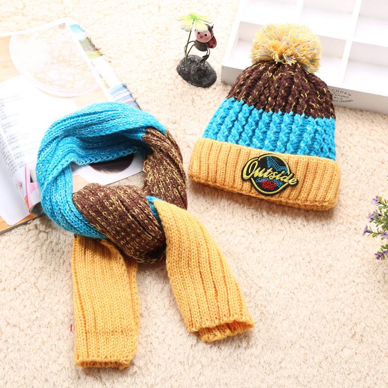 ทุกๆวันพิเศษเด็กชุดหมวกผ้าพันคอไหมพรมขนแกะ 4-5-6-7-8-9-10 ขวบและเด็กสาวกระชากหมวก