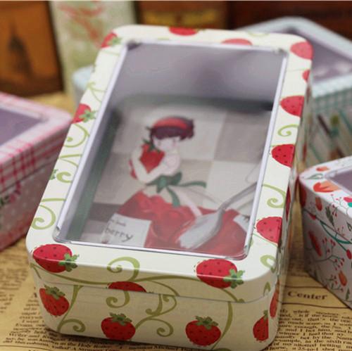 небольшой свежий оконной коробку конфет ручной печенья ящик олово сладкий коробки макарон нуга коробку