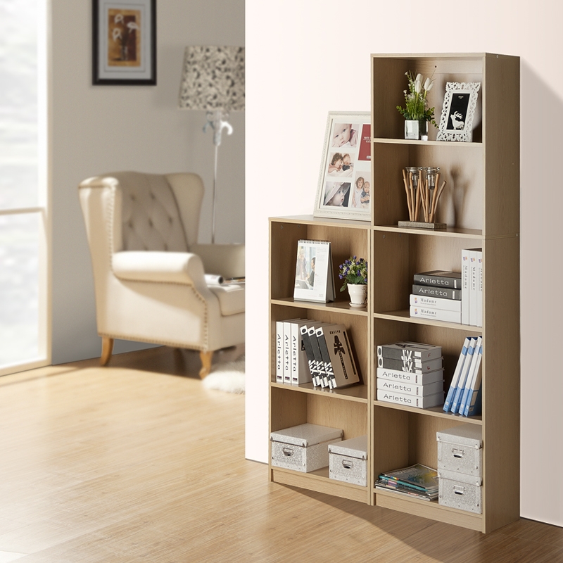 Simple wooden cabinet storage cabinet simple modern combination collection cabinet widening small bookcase bookcase