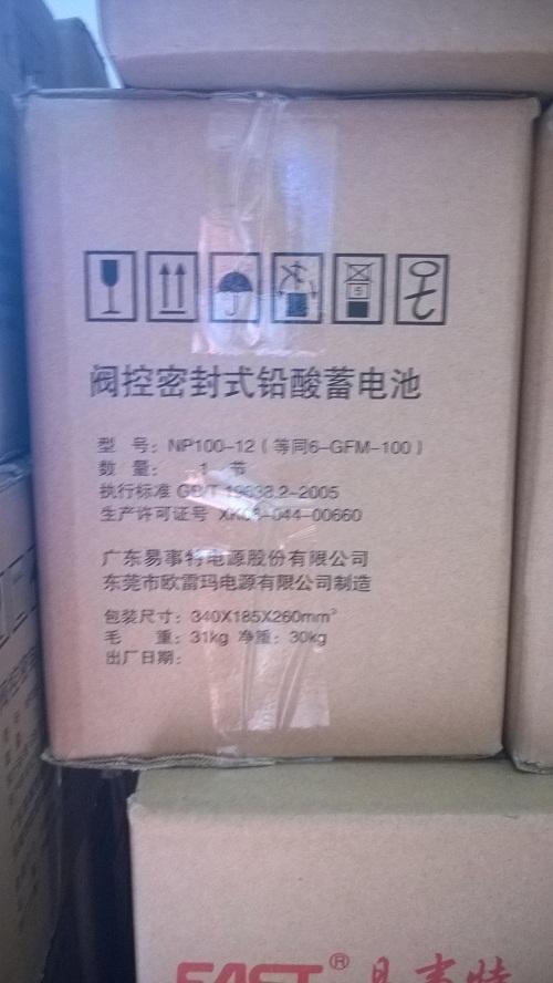 包郵品易事特蓄電池12V100AH /易事特NP100-12 / UPS直流-専用