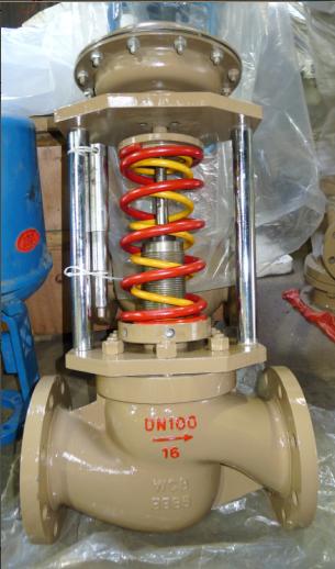 鋳鋼自力式圧力調節弁ZZYP蒸気ボイラー圧力調節弁高温DN20調圧弁