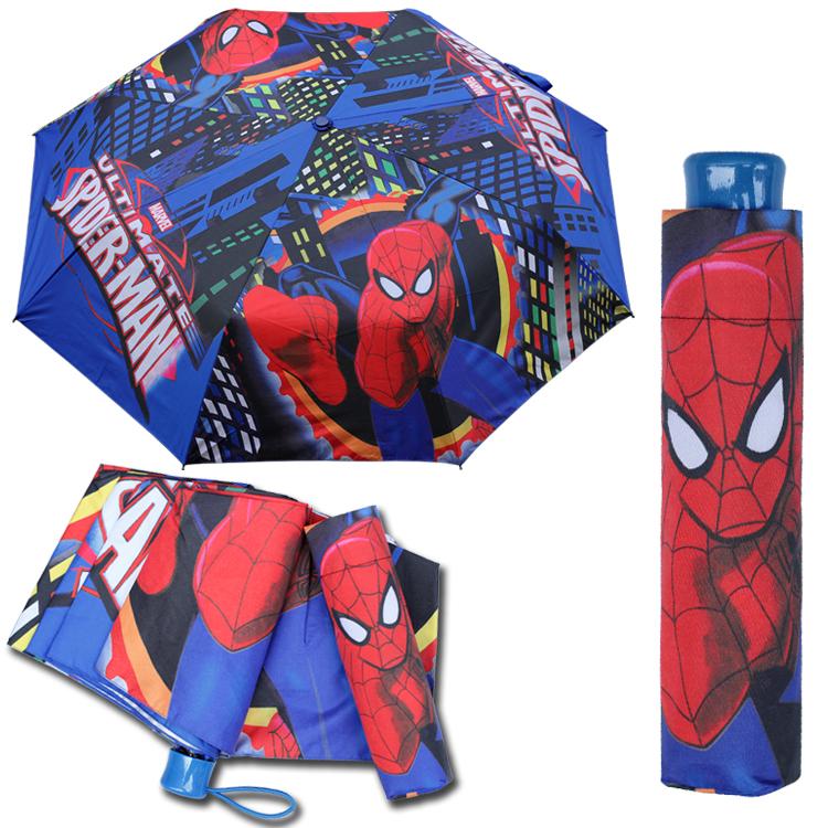 卡通蜘蛛侠雨伞小学生大号男童折叠晴雨伞蜘蛛侠儿童伞遮阳伞