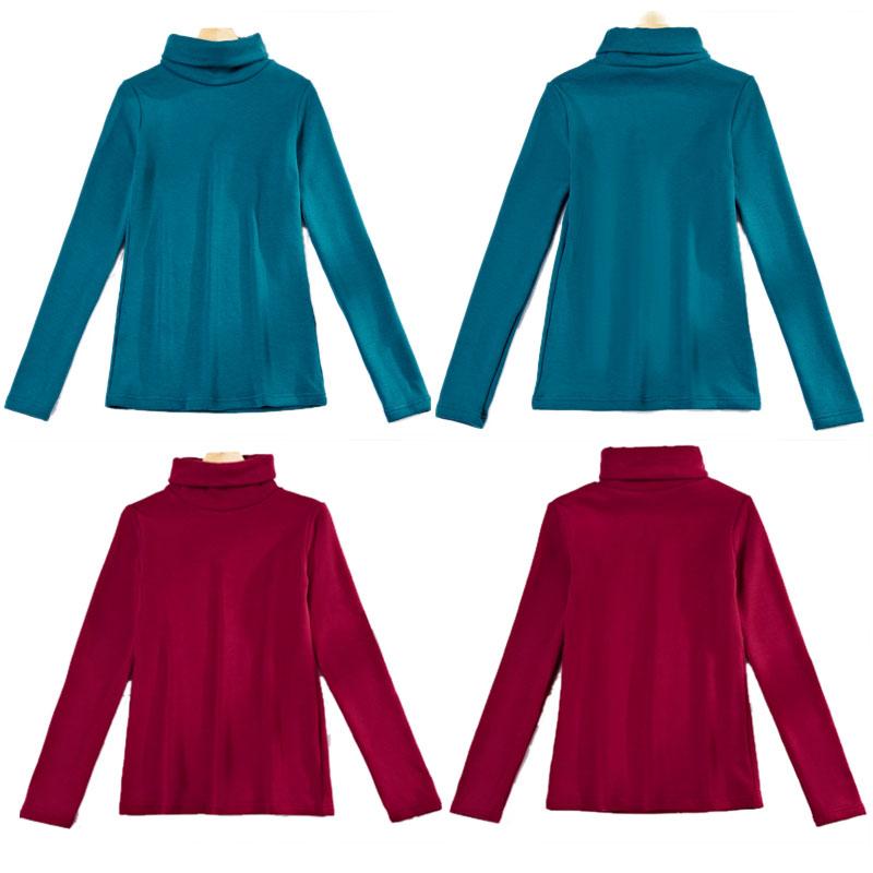 Elke dag speciale herfst en winter, reactor die t - shirt met lange mouwen trui met grote code kasjmier van katoen en dikke - shirt vrouwen.