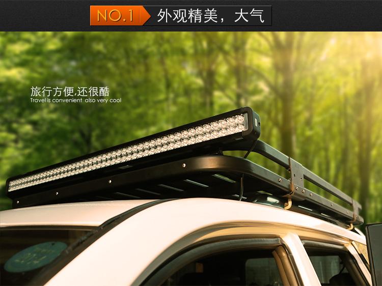 丰田霸道普拉多LC120 150专用 酷黑行李架 车顶框 行李筐 车顶架高清图片