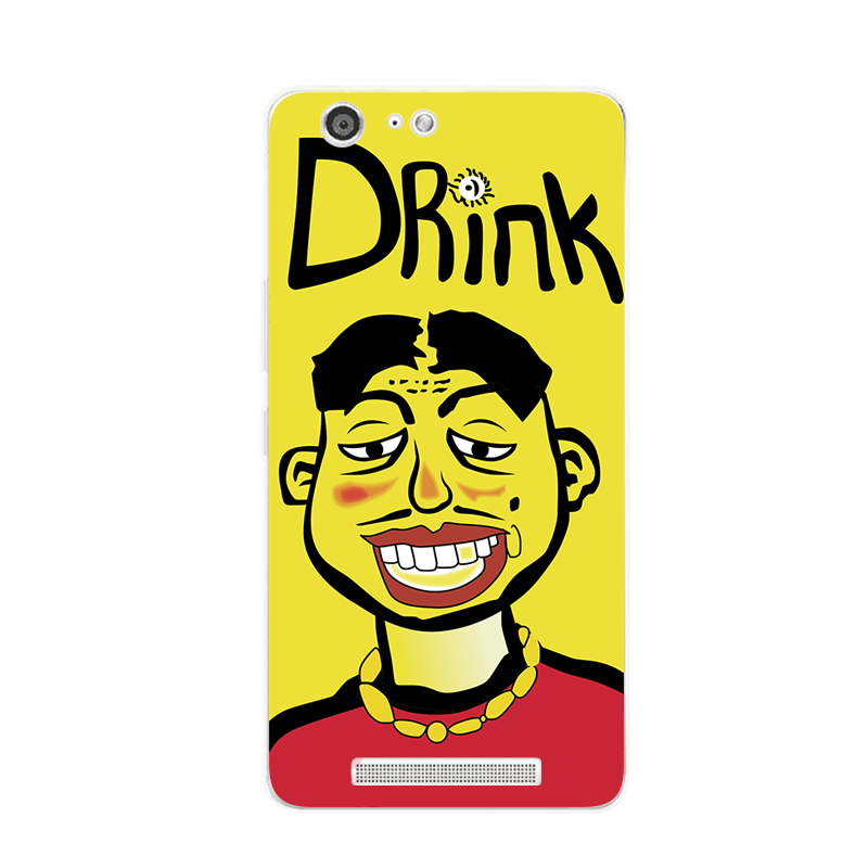 Jin S9/5M5 mobile phone M5plus case of ultra-thin soft shell and the wind falling Metrosexual funny personality