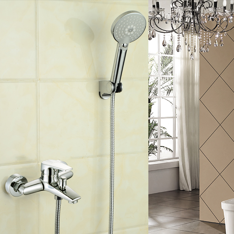 Copper shower faucet concealed faucet water mixing valve set