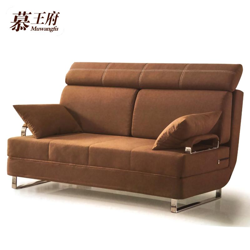 Πολυλειτουργικά καναπέ - κρεβάτι πτυσσόμενου 1,5 1,8 m 2 και ύφασμα όλο ξύλο μικρό διαμέρισμα απλή σύγχρονη διπλής χρήσης