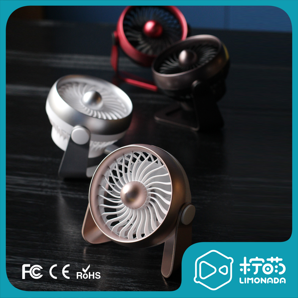 Meng Meng USB Mini Mini Fan rechargeable mute large wind office desktop desktop dormitory fan