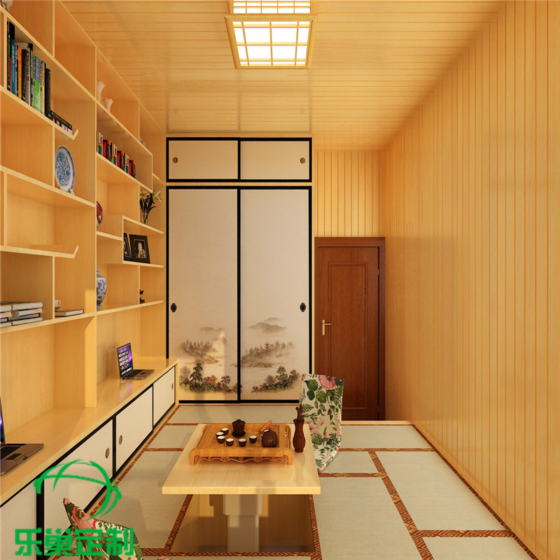 Hangzhou wood tatami bed platform whole wardrobe bedroom balcony design free customized children study