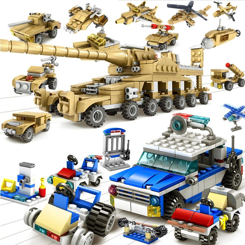 乐高积木警察局儿童拼装玩具益智6-7-8-10岁男孩子军事消防车坦克