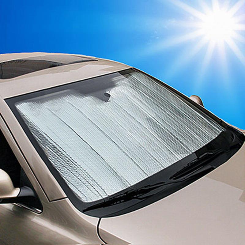 El papel de aluminio en el auto del PARASOL de aislamiento antes y después de mantener la contención