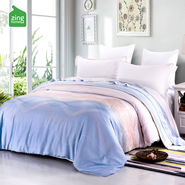 Woke up naked double summer silk bedding Tencel four piece pillow bedding 1.8m/2m