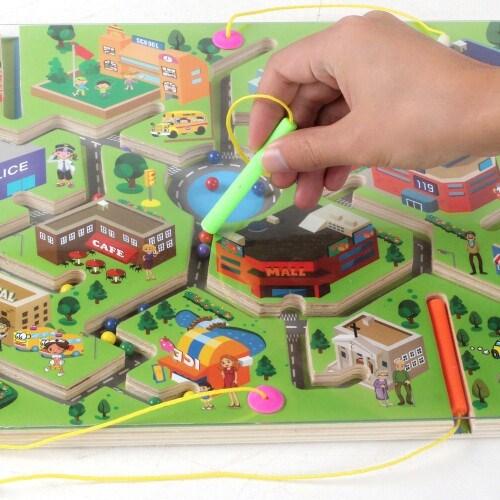 Magnetische - stift die Kinder - spielzeug 1-2-3-6 ELTERN - Kind - spielzeug - Entwicklung der gehirn - Labyrinth im Alter