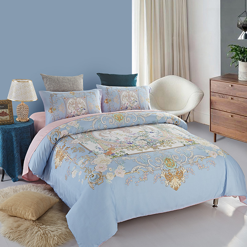 Weston textile Arnaud 80 Tencel bedding plant flowers of four sets of new package and the wind