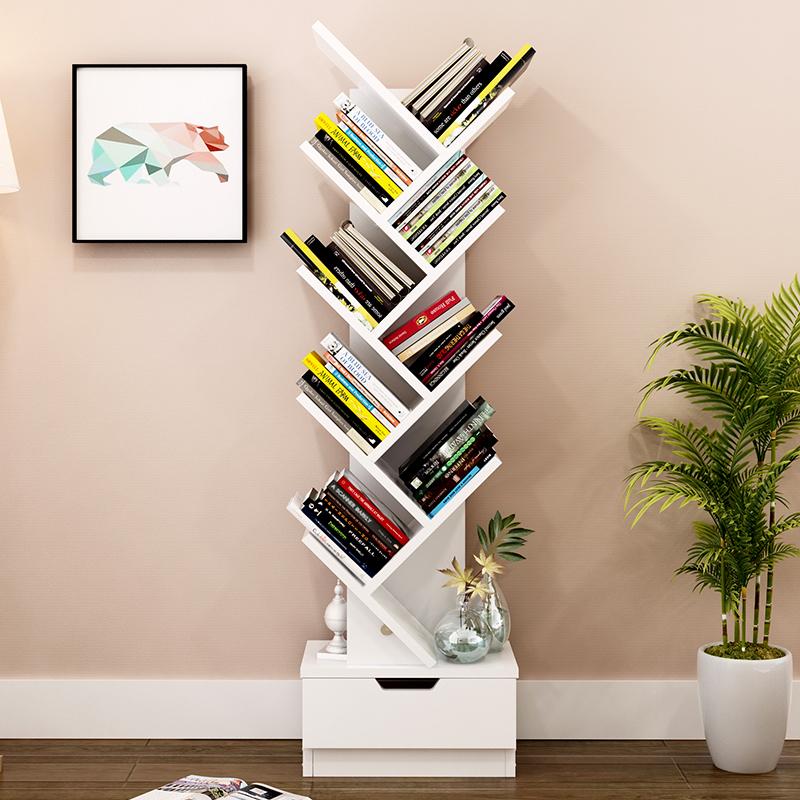 zawierające układ warstw rogu biurka w stylu prostego półki z książkami