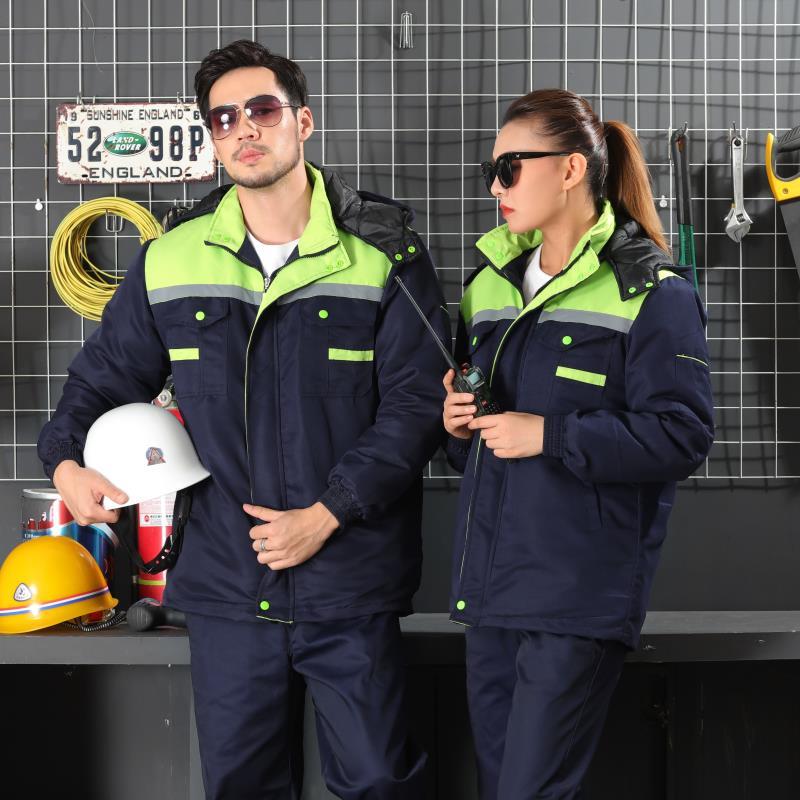Traje de mangas largas y taller de reparación de trabajadores hombres vestido de ropa de protección usar ropa de la fábrica de construcción