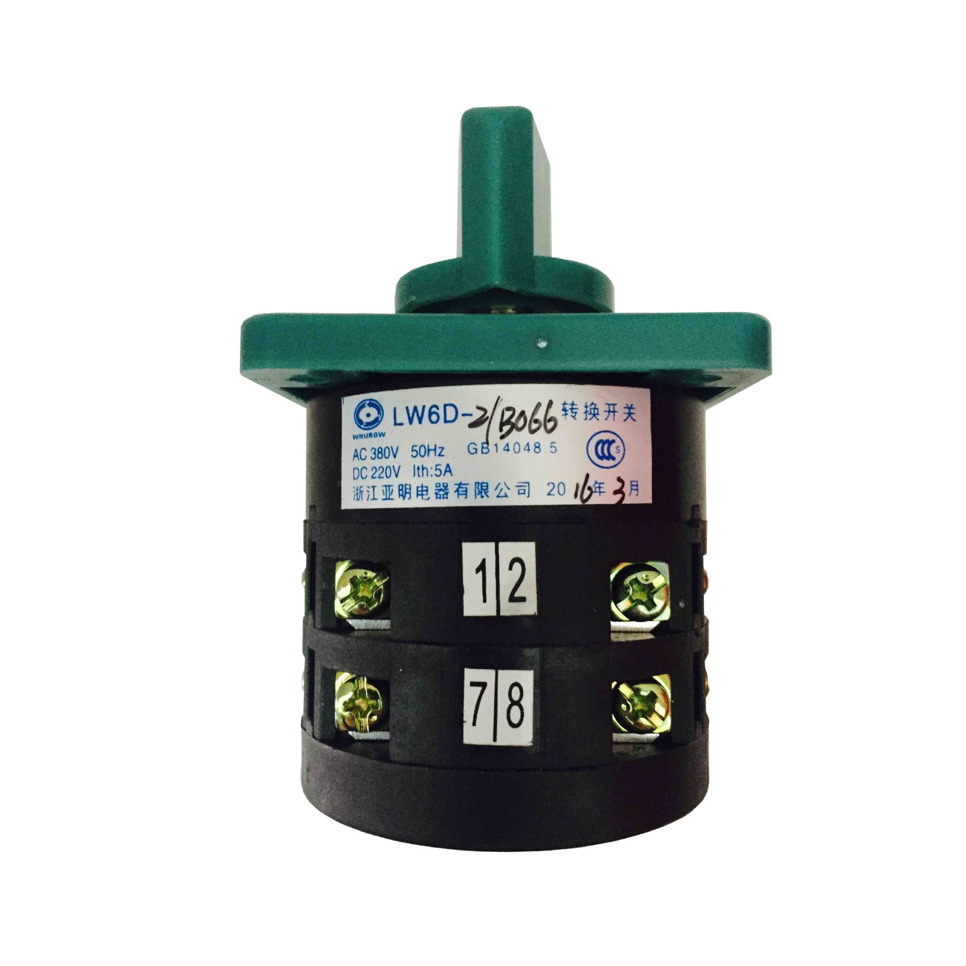 تشجيانغ الكهربائية 亚明 LW6-2 / B066 العالمي التبديل 3 ملفات 2 مزيج الفضة الاتصال التبديل الدوارة