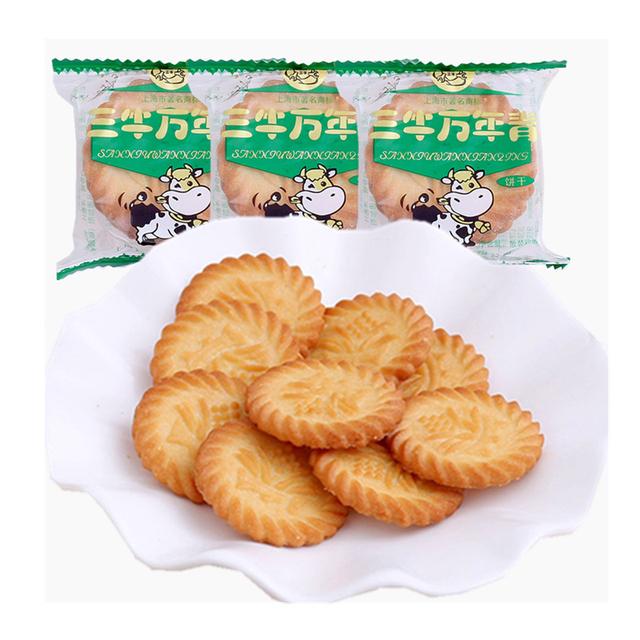 上海特产三牛饼干万年青香葱味葱油味儿童酥性早餐零食整箱1500g
