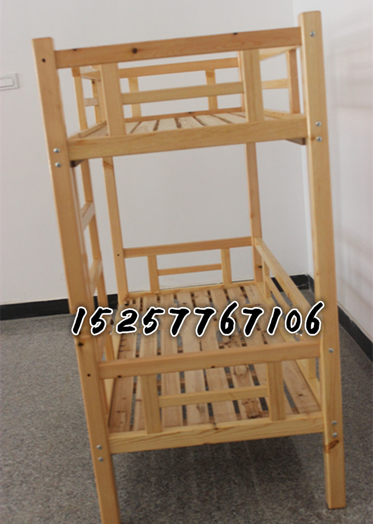 Customized children's upper / lower berth / solid wood baby push / pull folding bed / kindergarten widening and strengthening double Scotch Pine bed
