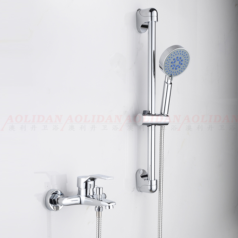 Hot and cold bath type copper tap switch buried wall with shower water sprinkler three pass into the wall of dark water mixing valve