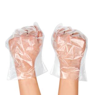 一次性手套塑料透明食品加厚餐饮薄膜抽取式1000只装pvc手膜100只