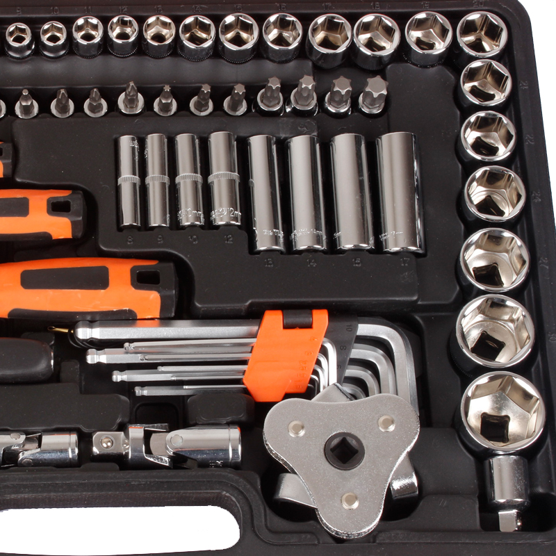 121 pieces of machine tool kit, automobile sleeve tool, automobile repair sleeve screw, ratchet wrench, car tool box