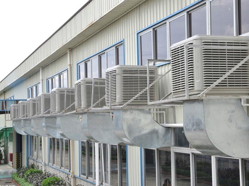 ψύκτης αέρα εξοπλισμού αναπαραγωγής εκτροφή ανεμιστήρα υγρό αέρα ψύξης κουρτίνα του ανεμιστήρα ψύξης του αέρα εξάτμισης τύπου μηχανή κινείται