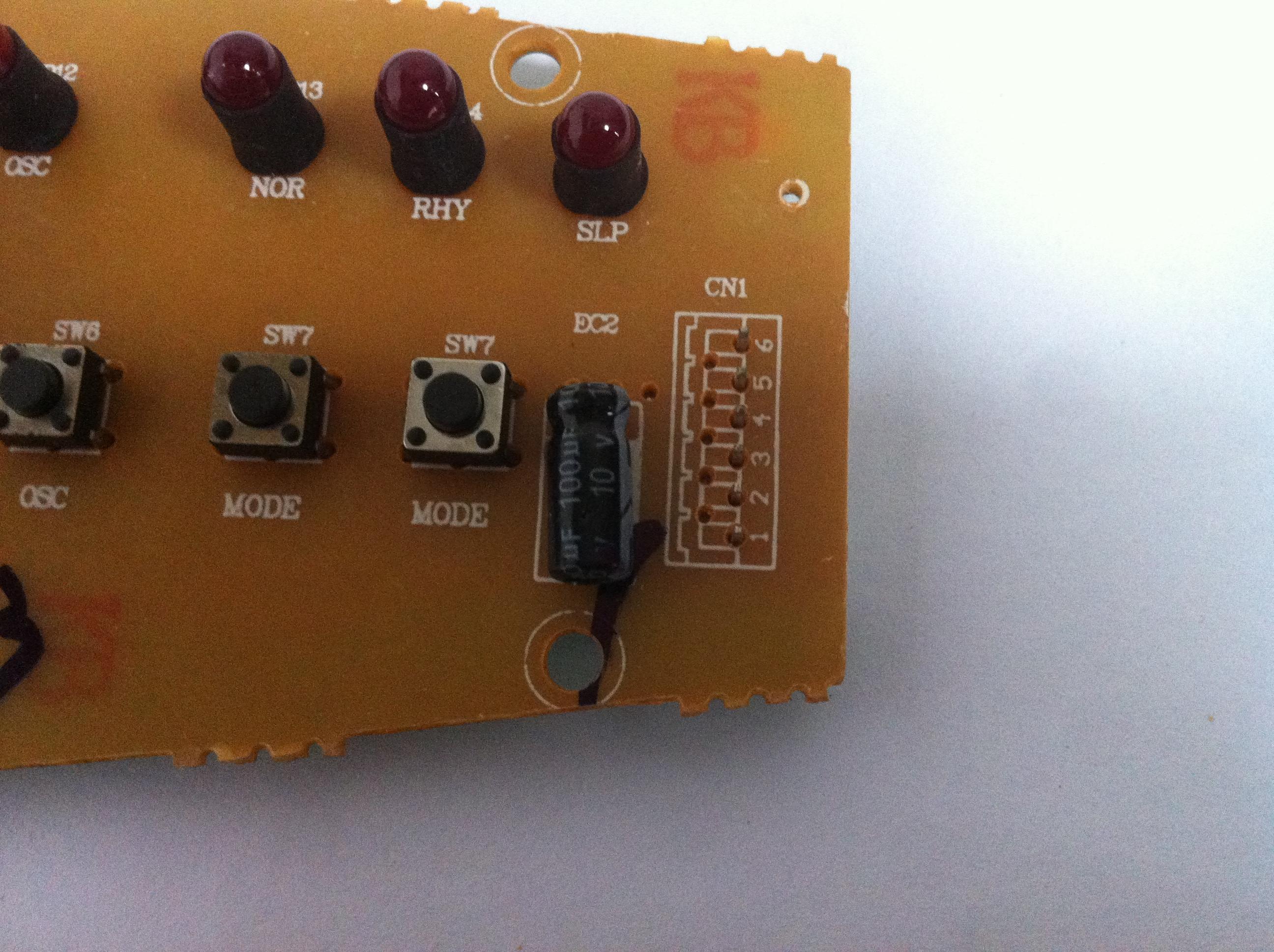 Pioneer και θέρμανσης, κλιματισμού φαν ανεμιστήρα ψύξης LRG04-11BR κύκλωμα ελέγχου ομάδας PCB