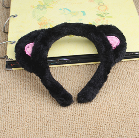 With a small cat ears headband Korea rabbit ears wash hair band wide headband hair headwear hairpin hairpin