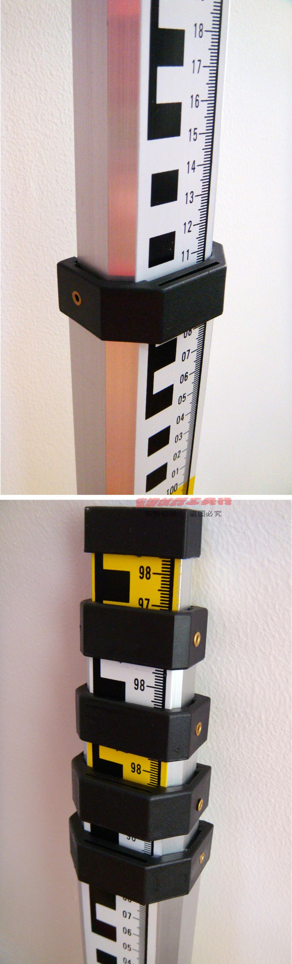 คู่หน้า 5 เมตรหอเท้าอลูมิเนียม / อลูมิเนียม 5 เมตรมาตรวัดระดับการใช้ไม้บรรทัด / กล้องวัดมุม / สองหอเท้าข้างไม้บรรทัด