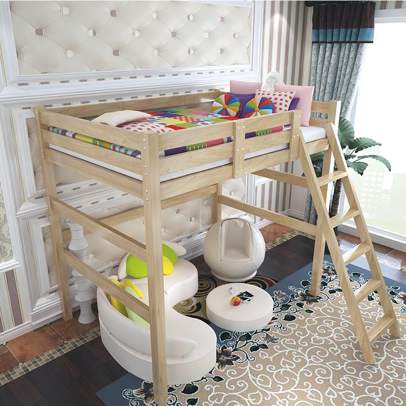 A Moda estilo europeu de Madeira CAMA CAMA elevada simples e um DUPLO beliche Ou CAMA para crianças -