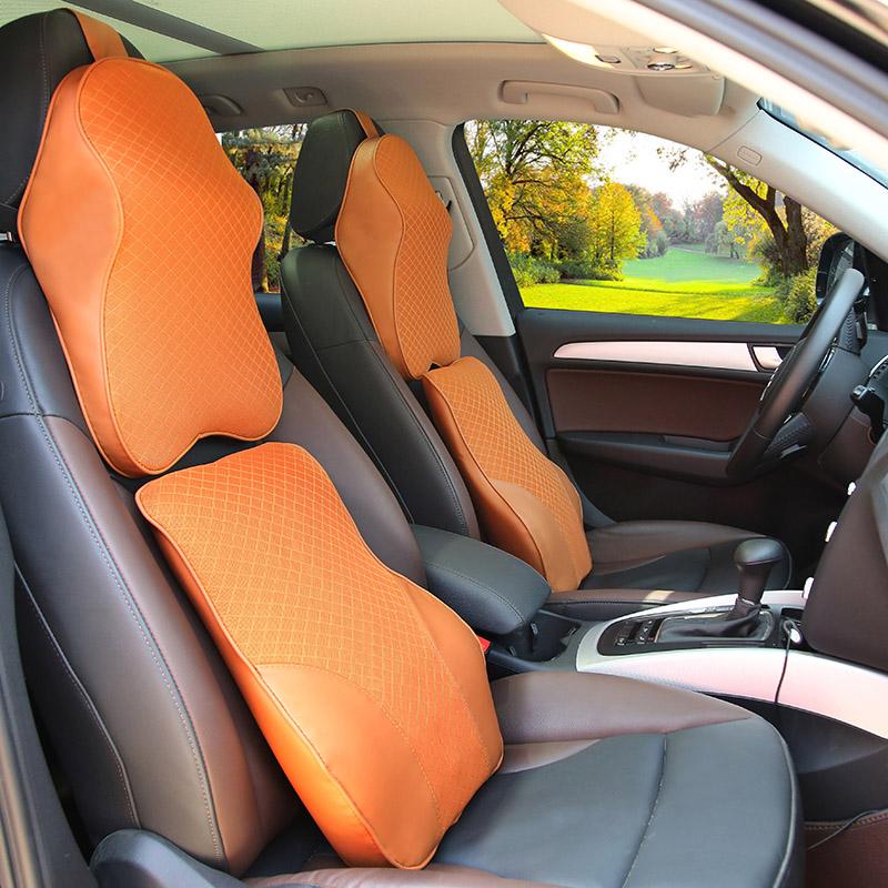 自動車のヘッドレスト車内護頚枕車用のクッションクッション記憶綿枕四季首車載腰でセット