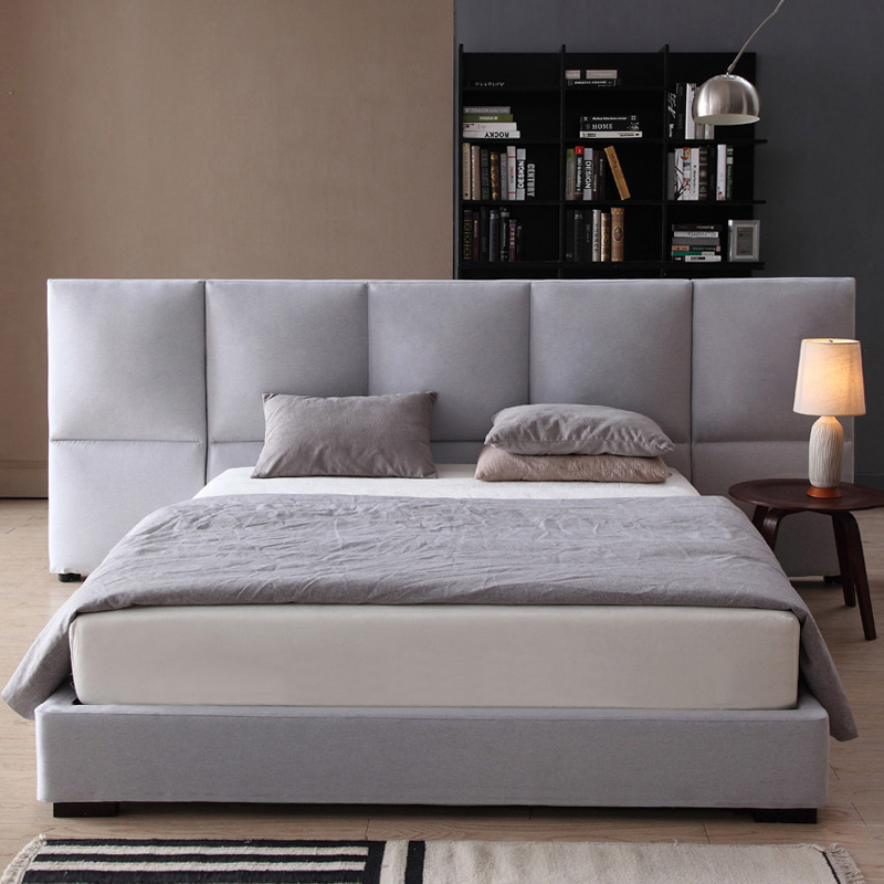 The large-sized apartment washable fabric bed 1.8 meters double bed pneumatic storage bed simple cloth bed Moderno Hotel