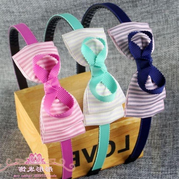 Coreano Moda tecido gravata borboleta grampo de cabelo de crianças. OS dentes cabelo aro cabelo de Princesa Meninas cabeça