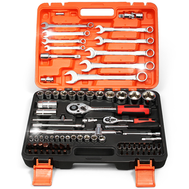 Auto repair auto tool kit kit hardware repair tools ratchet wrench set of tyres maintenance