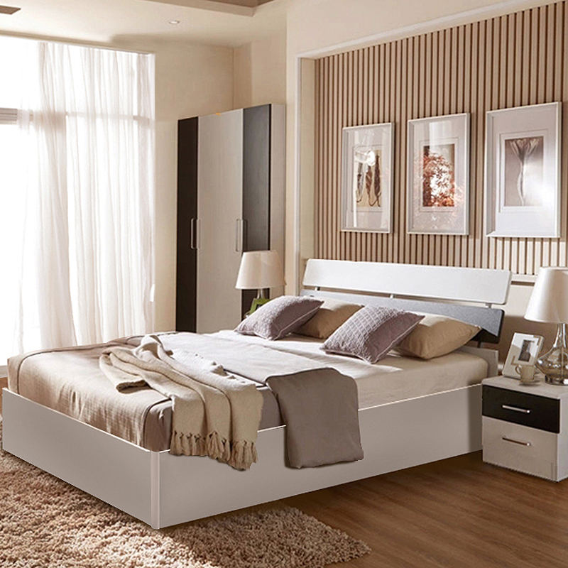 Nordic simple type bed furniture by Di 1.5m1.8 meters double bed large-sized apartment high storage box hard bed