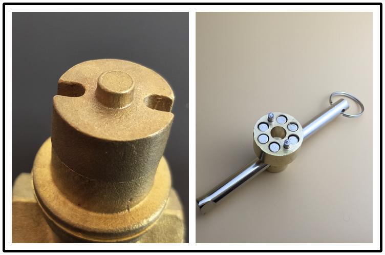 valva magnetice de blocare de schimb apa de la robinet de încălzire înainte de o supapă de gaze naturale.