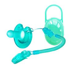 台湾直采soothie新生婴儿全硅胶安抚奶嘴 0-6-18个月安睡型仿母乳