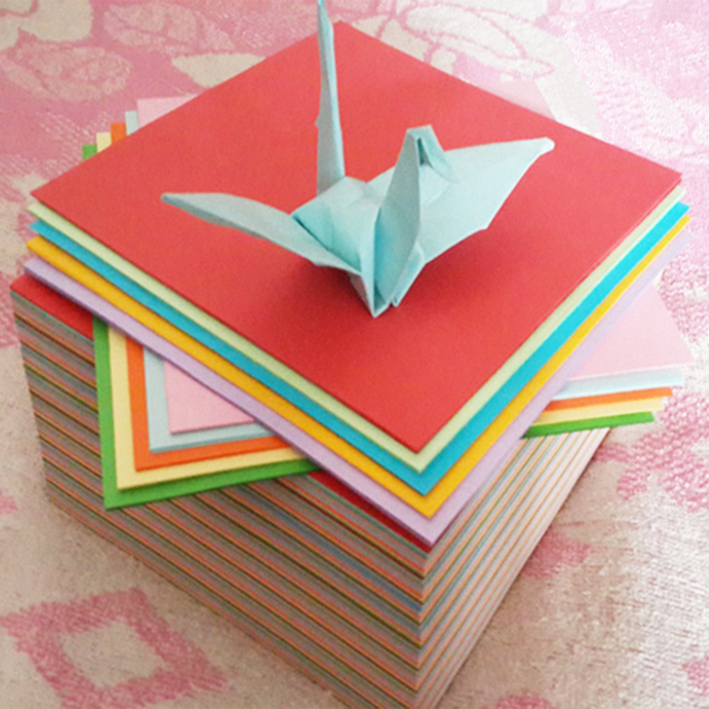 Folding paper roses material square children origami origami love rose 15*15cm