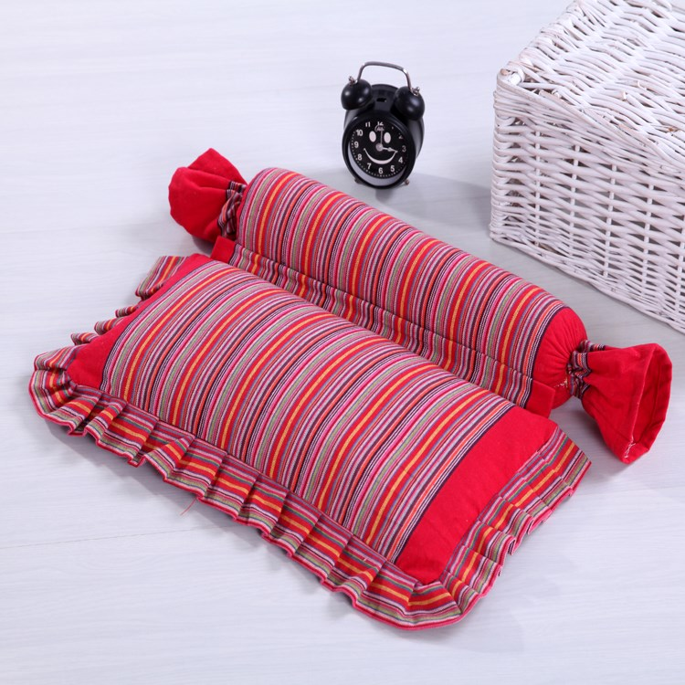 蕎麦の四角形の眠椎保健純長枕芯全蕎麦皮成人頚綿粗布枕枕に古い殻