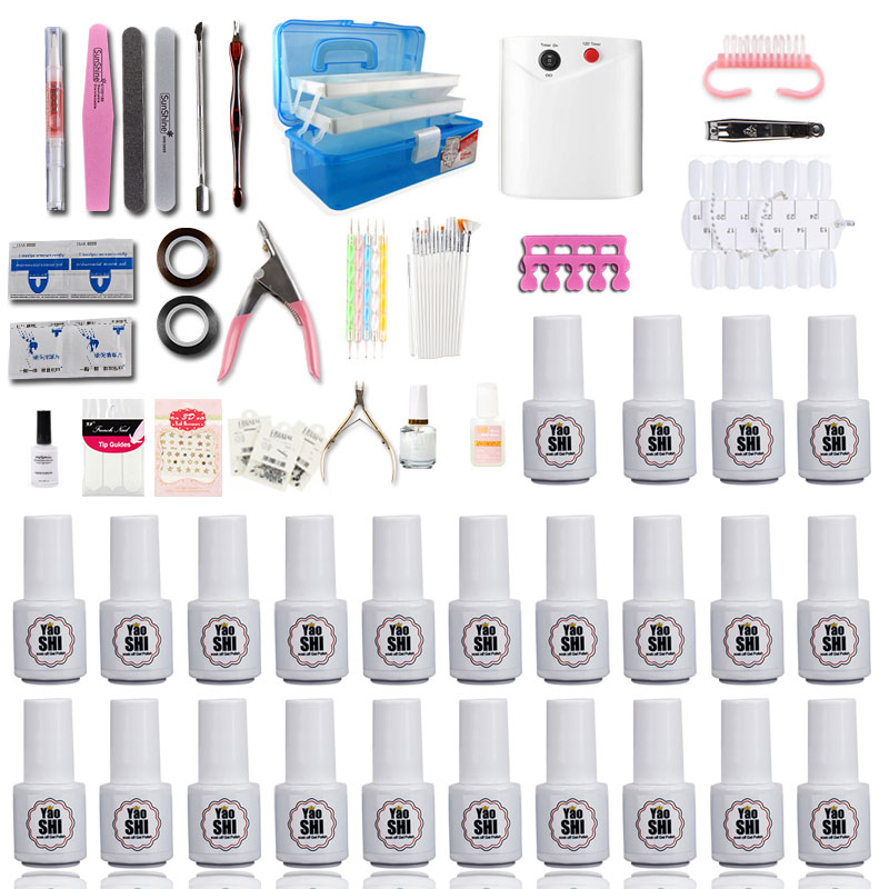 Aprire un negozio di strumenti di Base per principianti novizia domestico Manicure armatura petrolio Colla fototerapia lampada asciugatrice di potatura di forniture