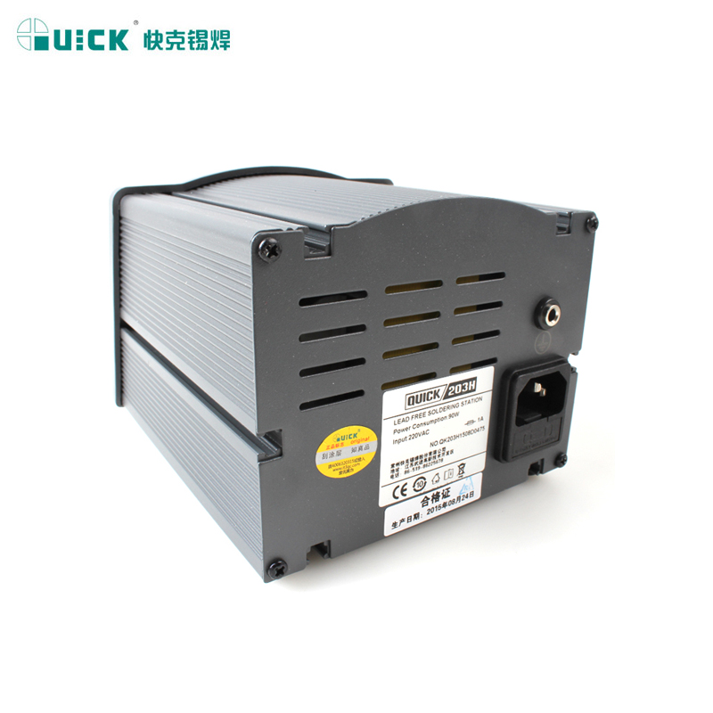 QUICK crack welding machine 203H lead-free digital intelligent high frequency high power 90W constant temperature thermostat welding Taiwan iron