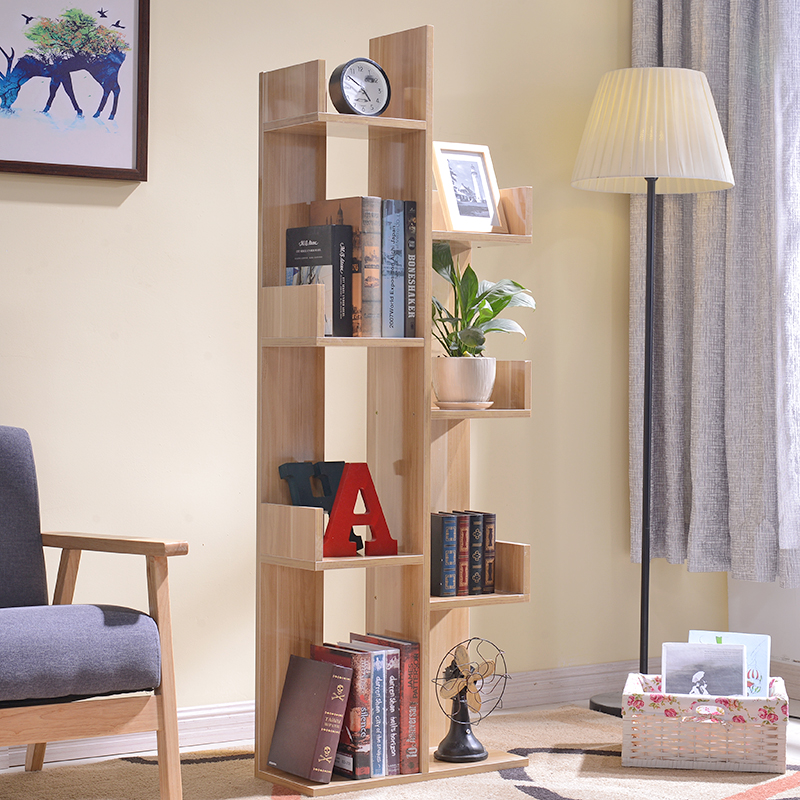 Simple tree type bedside children's bookshelf stacks Office