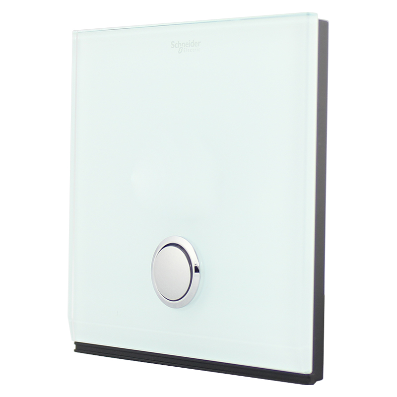 Schneider - 16A series single open control switch button switch panel with LED lamp (crystal)