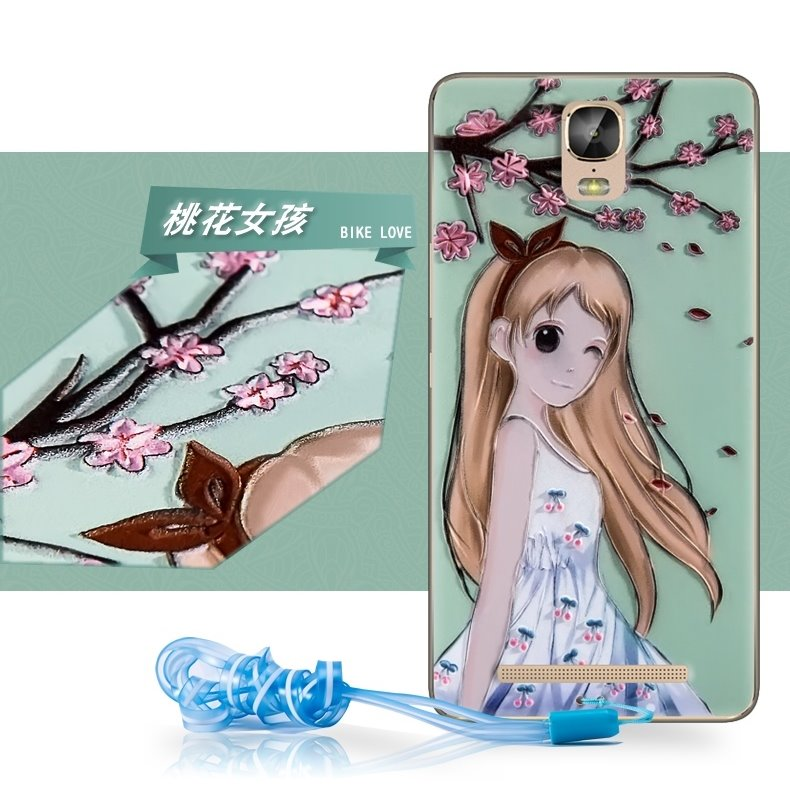 Jin Jin Li M5+ M5PLUS protective shell Plath GN8001L mobile phone lanyard cartoon soft sleeve relief set