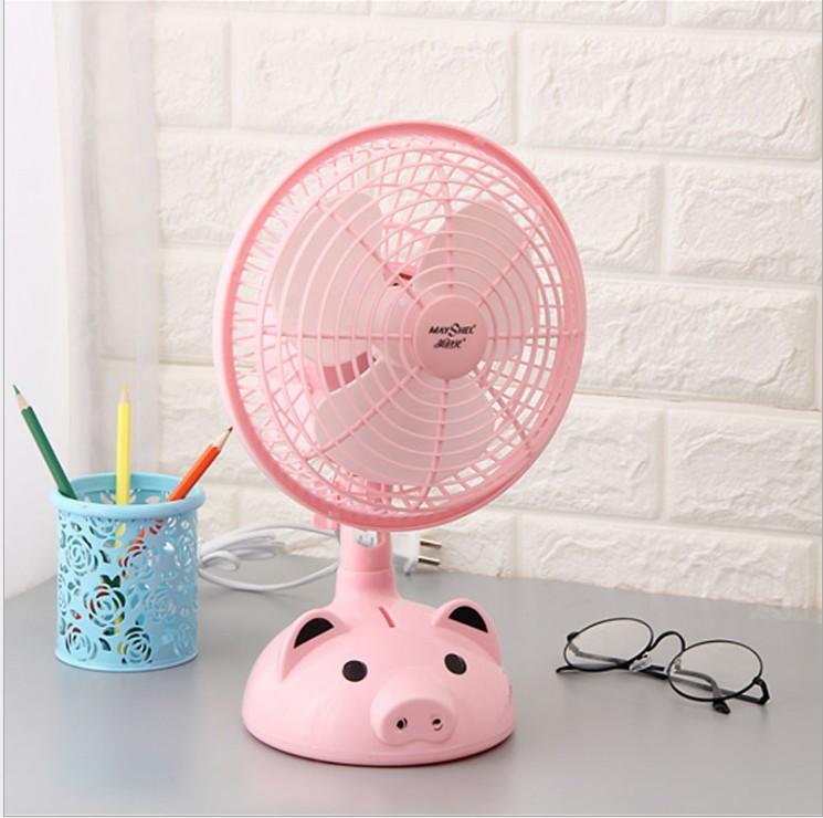 With a cute little fan 8 inch desktop Mini cartoon wind fan head office dormitory static sound