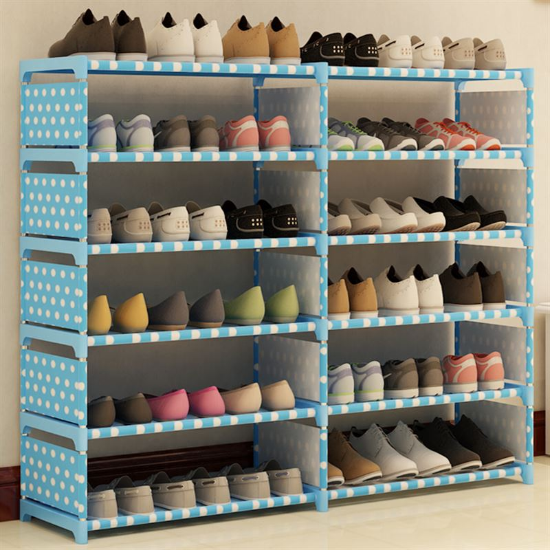 The shoe placing economic simple dustproof special offer multilayer bamboo household mini space shoes cabinet
